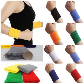 Klink Combo of 2 Original Sports Wristband with Dri-Fit fabric