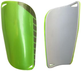 Kobo 2234 19.05 cm (7.5 Inch) Football Shin Guard (Green/Silver)