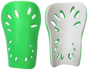 Kobo 2241 16.51 cm (6.5 Inch) Football Shin Guard (Green/Silver)