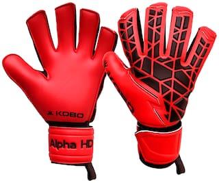 Kobo Red Large Football Goal keeping glove