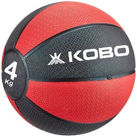 Kobo 4 Kg Training - Medicine Ball / Slam Ball with Easy-Grip Textured Surface and Ultra-Durable Rubber Shell (Imported)