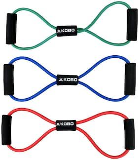 Kobo AC-65 Figure 8 Toner Resistance Exercise Tube Band Set of 3