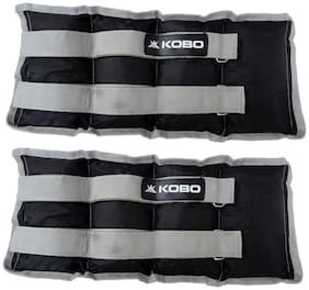 Kobo Aerobic Cardio Home Gym Exercise & Fitness (Imported) (5 Kg x 2) Ankle & Wrist Weight (5 kg)