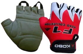 Kobo CG-01-RED-MEDIUM Biker Gloves / Riding Gloves / Cycling Gloves (Imported) (Red) (Medium)