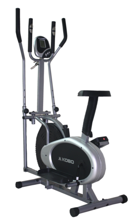 Kobo Multi Imported Elliptical Orbitrack Dual Action Exercise Bike-Black
