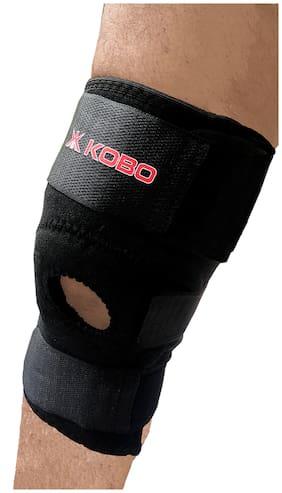 Kobo Neoprene Knee Adjustable Support-Black