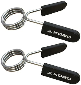 Kobo ProLifting 50 mm Olympic Barbell Rod Collars for Pro Cross fitness Training, Set of 2 (IMPORTED)