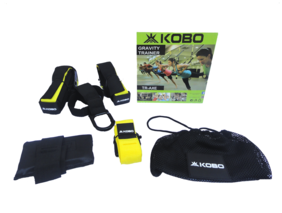 Kobo Tr-Axe Gravity Suspension Belt With Home Gym Straps Trainer Kit Yellow