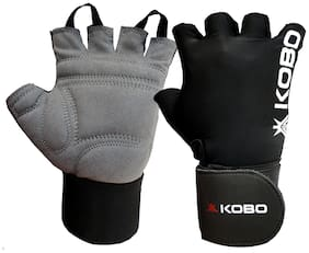 Kobo Weight Lifting Fitness Gym Gloves With Wrist Support -