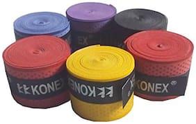 Konex Pack of 3 Multipurpose Badminton/Tennis/Squash Racket Super Tacky Touch Grip