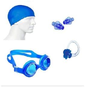 Krazy Swimming Kit (Silicon Cap, Silicon Ear Plug, Swimming Goggles)