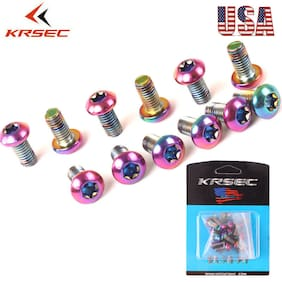 KRSEC MTB Road Bike Disc Brake Rotor Screw Bolts Cycling M5x10mm T25 12PCS/Boxed