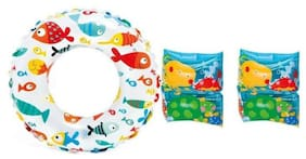 KRYPTON MAX In Tex  Swimming Tube with Arm Bands Inflatable Pool Accessory CB-30