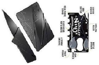 Kudos Wallet Ninja for Pocket Multi-utility Knife +Folding Pocket Credit Card Knife (Black)