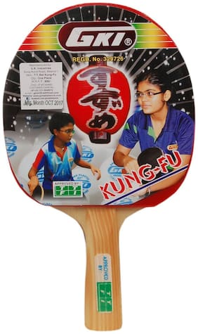 KUNG FU Table Tennis Racquet ( In New Computerised Printed Cover )