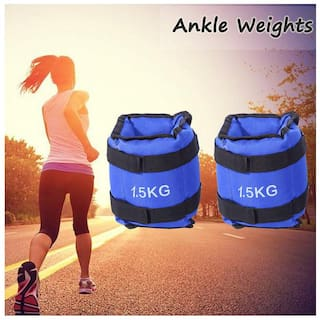 Kya Chaiyea Best Quality Ankle and wrist Weights 1.5 kg pair good for Fitness & Exercise Fitness Band