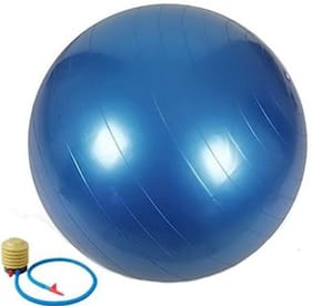 kyachaiyea Anti Burst Gym Ball 85 cm Gym Ball  (Multicolor) Gym Ball  (With Pump)