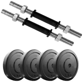 """Kyachaiyea Fitness Kit Gym accessories 1 kg PVC PLATES WITH 2 DUMBBELL RODS OF 14"""""""