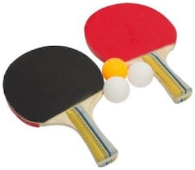 kyachaiyea pair of table tennis racquet with good quality of 3 ball (250g)