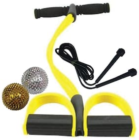 La Mod Rubber Pull Reducer Ab Exerciser with Skipping Rope & Acu Magnetic Balls