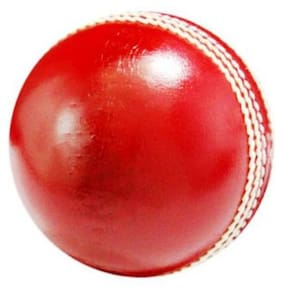 Labh Traders 4 peice Cricket Leather Ball  (Pack of 6, Red)