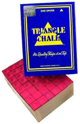Laxmi Ganesh Billiard Snooker Triangle Chalk 144 pcs RED