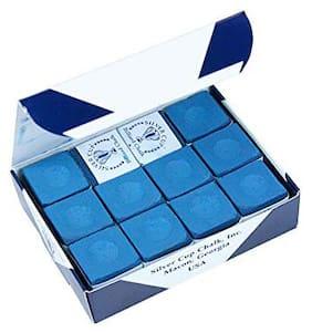 Laxmi Ganesh Billiard Silver CUE Billiard Chalk -12pcs Blue