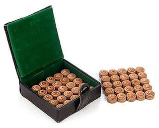 Laxmi Ganesh Billiard Layered Billiard and Snooker Leather Cue Tip 9 mm