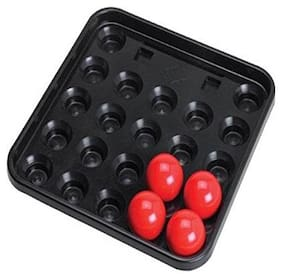 Laxmi Ganesh Billiard Snooker Plastic Tray for Full Size with 4 RED Ball