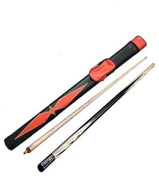 Laxmi Ganesh Billiard Combo of Half Bridge CUE 9MM with RED CUE Cover