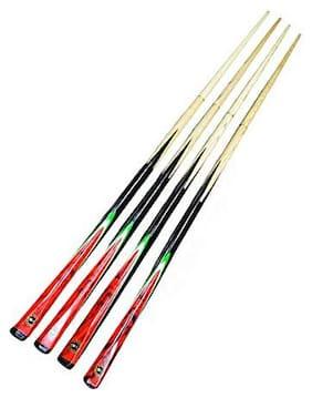 Laxmi Ganesh Billiard American Pool Cue Stick 4 pcs