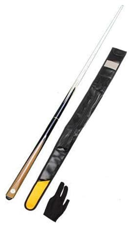 Laxmi Ganesh Billiard Snooker & Billiard Master Pro - Butt Quarter Vacuum Joint Cue with One Piece Leather Cue Cover and Glove