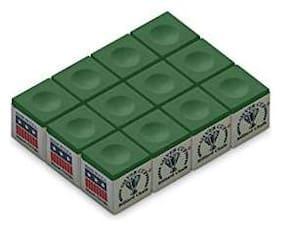 Laxmi Ganesh Billiard Silver Cup Billiard/Pool Cue Chalk Box 12 pcs