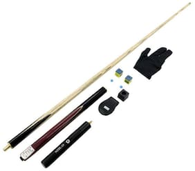 Laxmi Ganesh Billiard Combo of Omin Gunman Professional cue, 2 pcs Tips, 2 pcs chalks, 1 pcs chalks Holder, 1 pcs Gloves, Extension.