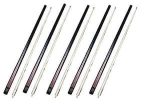 Laxmi Ganesh Billiard Pool Snooker Professional Half 1/2 Joint Cue Stick (Pack of 5 pcs)