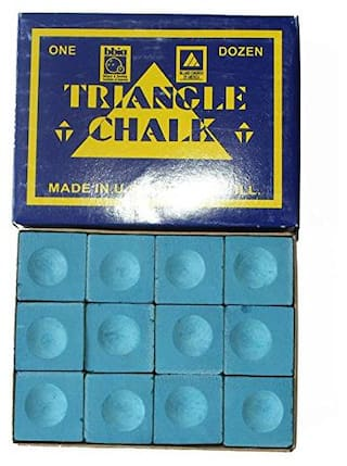 Laxmi Ganesh Billiard Triangle Blue Chalk for Snooker and Pool pcs