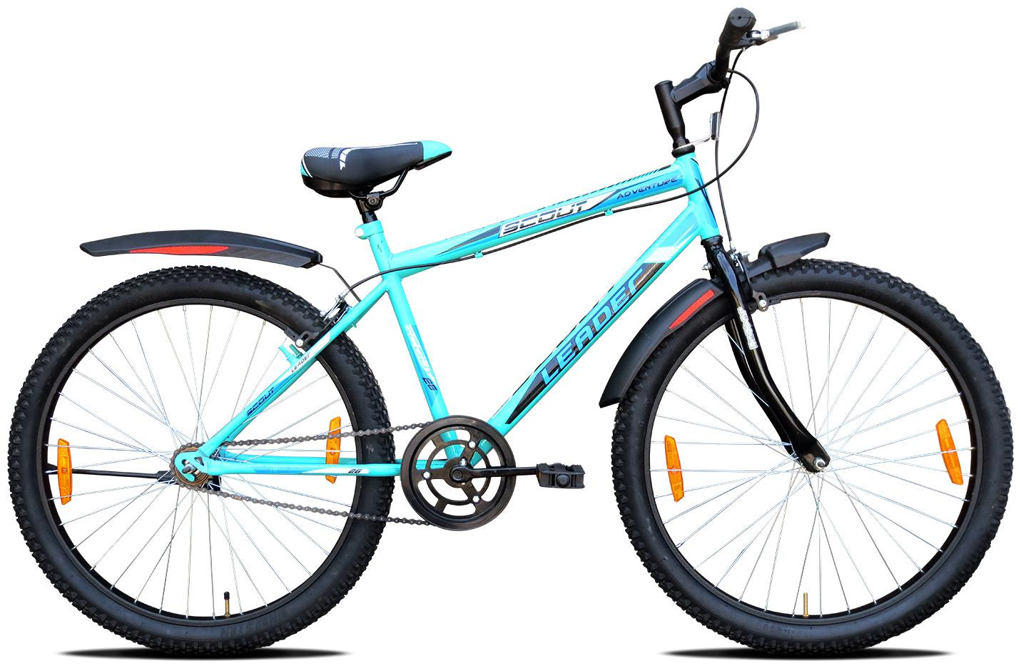 Leader Scout MTB 26T Men's Mountain Bicycle/Bike Without Gear Single Speed   Sea Green,Ideal for 10 + Years 18 inch Frame by LEADER CYCLES