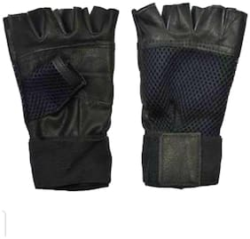 Anti Skid - Leather gloves (Black)