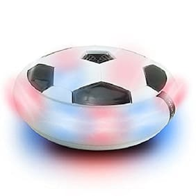 Led Air Power Soccer Disc Lights Kids Gliding Hover Float Football Games Toy (1Pc) Multi Color