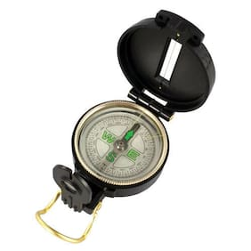 Lensatic Compass Blk W/Guide Wire For Scouting Camping+