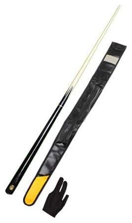 LGB Billiard;Pool & Snooker John Paris Black Quarter Cue with One Piece Leather Cue Cover and Glove