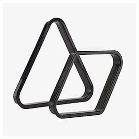 LGB Combo of Plastic Triangle & 9 Ball Frame (Black)