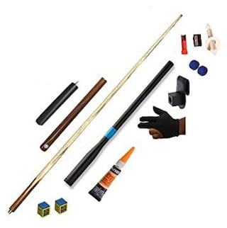 LGB Combo of cue with Extension+Telescopic Extension+Glue Gel+2 Chalk+Glove+Chalk Holder+2 tip+tip Modifier