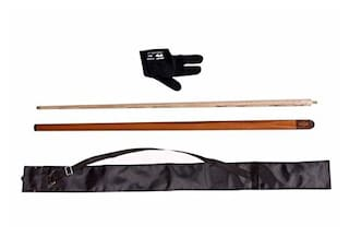 LGB Combo of Handmade Half Normal Joint Glossy Snooker N Pool CUE with CUE Cover N Glossy