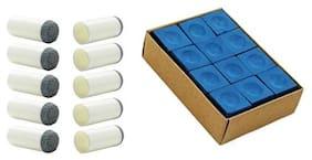 LGB Combo of Blue Chalk & Slip on tip 9mm (10PCS)