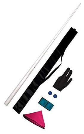 LGB Snooker & Pool 4 Joints Cue - 48 Inches with Cue Cover;Glove and Cue Cleaning Cloth