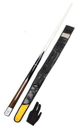 LGB Snooker & Billiard L.P Quarter Cue Without Extension (Vacuum Joint) with One Piece Leather Cue Cover and Glove
