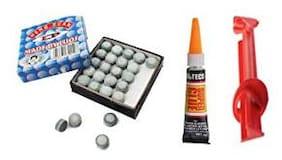 LGB Snooker & Billiard 9mm L.P A Grade Cue Tip 50 Pieces + 1 Piece Glue + 1 Piece Tip Repair