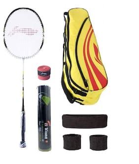 Li-Ning Combo of XP-808 Badminton Racquet (2 Pcs.), Kit Bag, Grips & 2 Other Items