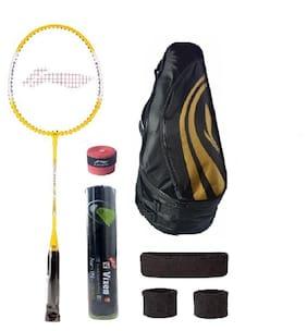 Li-Ning Combo of XP-710 Badminton Racquet, Kit Bag, Grip & 3 Other Items